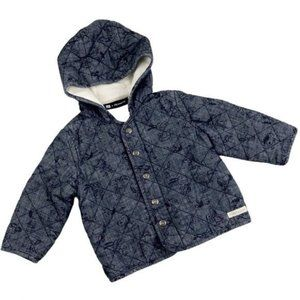 GAP Peanuts Snoopy Blue Quilted Jacket Infant 6-9M